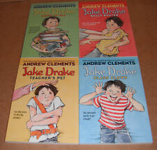 Lot of 4 Jake Drake Vol. 1,2,3,4 by Andrew Clements Paperback NEW