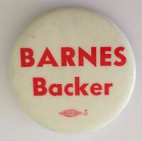 Barnes Backer Workers Union Button Badge Pin Vintage Authentic (N14)