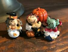 Dollhouse Miniature Trio of Halloween Figurines & Pumpkin!