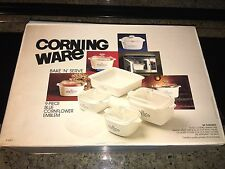CORNING WARE MODEL P- 430 BLUE CORNFLOWER BAKE AND STORE SET IN BOX
