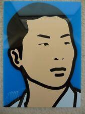 Julian Opie Vinyl Invitation Scai The Bathhouse Street Portraits Tokyo 2014
