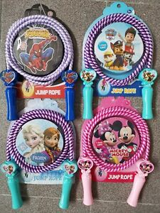 Kids skipping rope Frozen paw patrol princess spider man Minnie mouse party fun