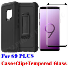 For Samsung Galaxy S9 Plus Case Clip Fit Otterbox Defender +Tempered G