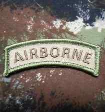 AIRBORNE TAB TACTICAL ARMY ROCKER MILITARY MULTICAM VELCRO® BRAND FASTENER PATCH