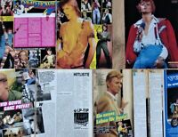 DAVID BOWIE - Sammlung Clippings Poster 70s 80s Fan collection Berichte lot
