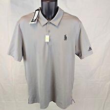 NEW NWT Adidas Men's Large Gray Tripoli Country Club SPF 50 SS Golf Polo Shirt L