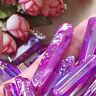 Rare Natural Purple Aura Lemurian Seed Quartz Crystal Stones Point Specimen NEW