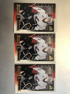 97/98 Zenith Lot Of 3 Rookie RC Roberto Luongo Canada Junior