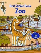 Usborne First Sticker Book: Zoo c2016 NEW Paperback 100+ Stickers!