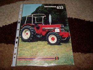 Original Traktoren Prospekt von IHC International 633