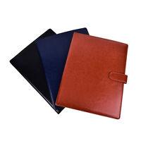 A4 PU Leather Document Bag File Folder Clip Board Business Office School Su DD