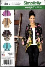 Simplicity Sewing Pattern 1318 aka 0638 Fall Fashion Kimono Jackets Size 4 - 26