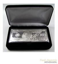 Silberbarren $ 100 Franklin 4 oz .999 Silber incl. Kapsel/Etui