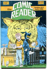 COMIC READER #217, VF, BobCat, Green Lantern, Fanzine, 1984, more in store