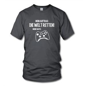 MEIN AUFTRAG: DIE WELT RETTEN! Controller (XB) - Gamer Kult T-Shirt Konsole Geek