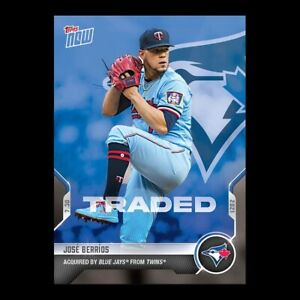 2021 TOPPS NOW® # 580 JOSE BERRIOS Traded To Toronto Blue Jays