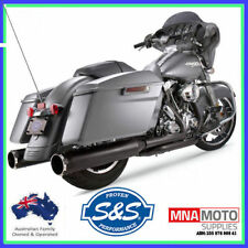 """S&S Cycle 550-0666 4.5"""" Mufflers Contrast Cut/Thruster End Caps M8 2017+"""