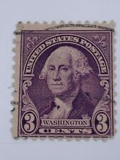 VINTAGE STAMP💎1932💎 3 cents George Washington; 1932 issues; violet colour💎