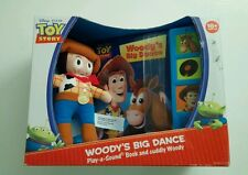 Toy Story Woody's Big Dance Play-a-Sound Book and Cuddly Woody Doll New
