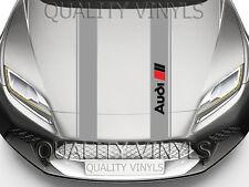 BS2 AUDI Bonnet Racing Rayas A1 A3 A4 logo Calcomanías Adhesivas Gráficos