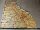 Partial Vintage Wall Map Of Philadelphia area 1860's Civil War Era S.N. Beers