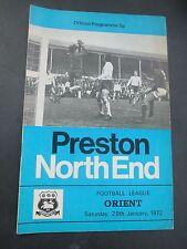 Preston V Orient    1971/2