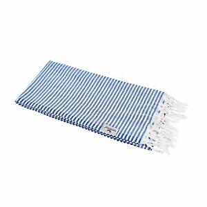 Hamamtuch Fouta Streifen royal blau leicht hauchzart Pestemal 90x180 100% Cotton