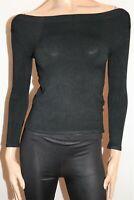 Bubblegum Brand Black Long Sleeve Thin Stretch Knit One Size BNWT #TQ99