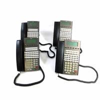 (Lot of 4) NEC DSX 34B BL Display TEL (BK) Business Telephones Backlit Display