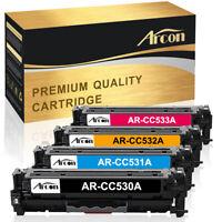 4 Pack Toner Cartridge for HP CC530A 304A LaserJet CM2320FXI MFP CP2025 CP2025DN