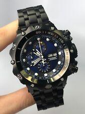 Men's Invicta Watch Model 27110 Black Royal Blue Swiss Automatic 25J Chronograph