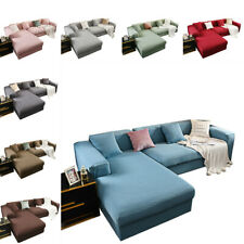 L Sofa Cover 1/2/3/4 Seater Slipcover Solid Cover Couch Protector Settee Covers