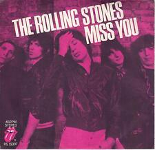 THE ROLLING STONES  Miss You / Far Away Eyes 45 with PicSleeve