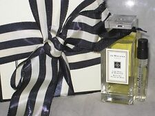 NIB JO MALONE LIME BASIL & MANDARIN BATH OIL, 1OZ/30ML + PERFUME SAMPLE VIAL