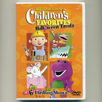 Children's Favorites Halloween Treats, new DVD, Barney, Bob Builder Pingu Kipper