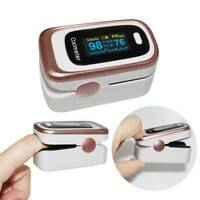 OLED Fingertip Pulse Oximeter Blood Oxygen Saturation Monitor Rose Gold & White