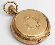 Pocket Watch, c.1887 - Excellent Cond 14K Gold Elgin Ornate Antique Hunting Case