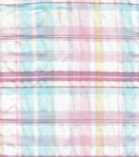 100% Cotton Pastel Plaid Seersucker Fabric Great for Bloomers