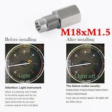 180°O2 Oxygen Sensor Spacer Engine Light CEL Check Bung Mini Catalytic Converter