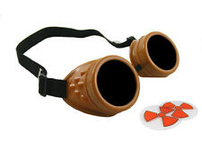BROWN CYBER GOGGLES STEAMPUNK WELDING GOTH COSPLAY