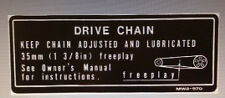 HONDA CBR900RR FIREBLADE EARLY MODEL DRIVE CHAIN CAUTION WARNING LABEL DECAL