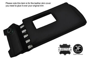 BLACK STITCH TOP CENTER CONSOLE PAD LEATHER COVER FITS DELOREAN DMC-12 81-83