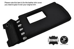 BLACK STITCH TOP CENTER CONSOLE PAD LEATHER COVER FITS DELOREAN DMC-12 81-83