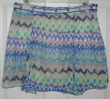 Dream Out Loud By Selena Gomez Multi-Colored Lined Pleated Short Skirt Sz 9