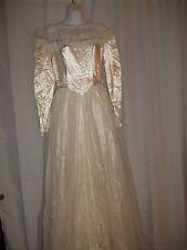 Beautiful Ivory Vintage Wedding Bride Bridal Dress By Maurer Original