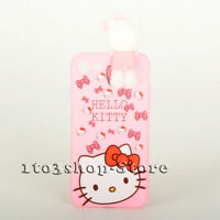 Hello Kitty iPhone 7 Plus iPhone 8 Plus Soft Silicone Pink Case w/Socket Stand