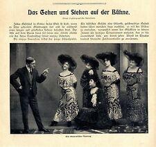 P. Felix Schauspiel-Unterricht-Ausbildung Gehen und Stehen auf der Bühne v.1904