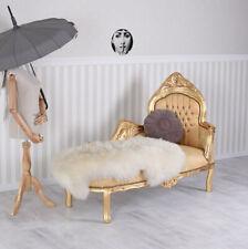 Chaiselounge rokoko Palast Barock Liege gold Sofa Kanapee Couch Polstersofa
