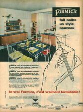 Publicité ancienne cuisine Formica   issue de magazine 1950