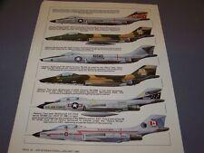 VINTAGE..MCDONNELL F-101 VOODOO VARIANTS..COLOR PROFILES/HISTORY...(600G)